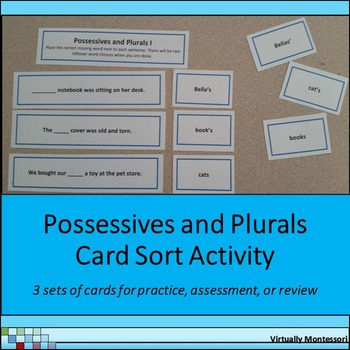 Possessives and Plurals Card Sort Activity