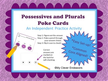 Possessives and Plurals Poke Cards