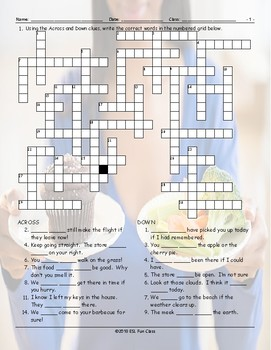 Possibility Modals Crossword Puzzle