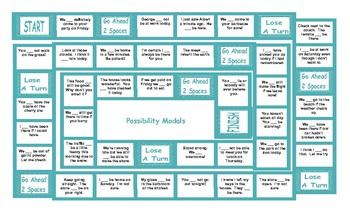 Possibility Modals Legal Size Text Board Game