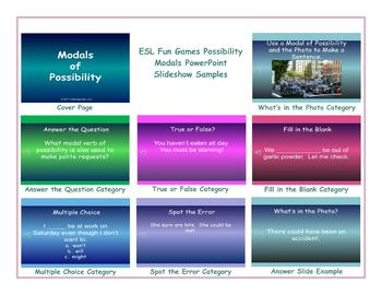 Possibility Modals PowerPoint Slideshow
