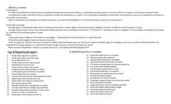 Possibility Modals Spanish Legal Size Photo Tic-Tac-Toe-Bingo Game