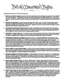 Possible Amendments to the Constitution (Handout)