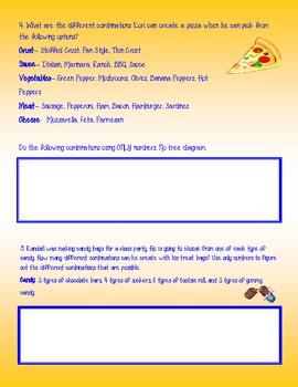 Possible Combinations Worksheet