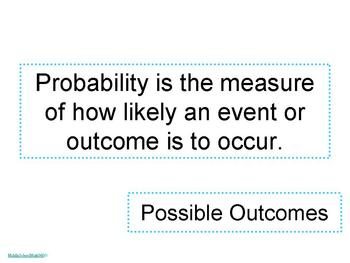 Possible Outcomes Activities - PowerPoint