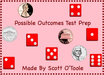 Possible Outcomes Smartboard Test Prep Math Lessons