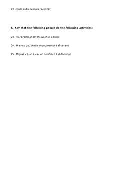 Possible Quiz - Pastimes - Descubre 1 Cap 4 Los pasatiempos
