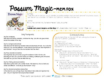 Possum Magic By Men Fox