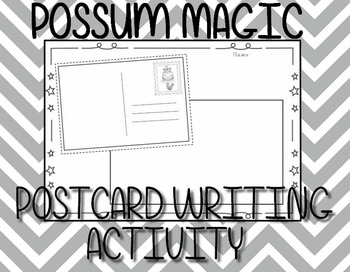 Possum Magic - Post card template  (Mem Fox)