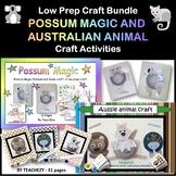 Australian Animals Craft BUNDLE goes well with Possum Magic