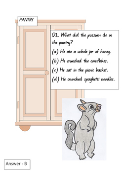 Possum in the House by Kiersten Jensen Comprehension exercise