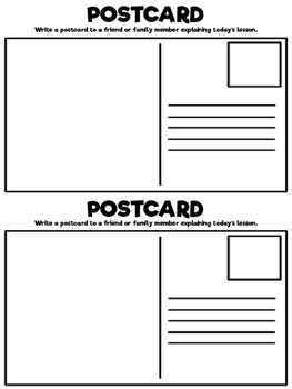 Post Card Exit Slip