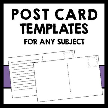 Content Area Post Card Templates - Social Studies, Science, ELA - For any unit!