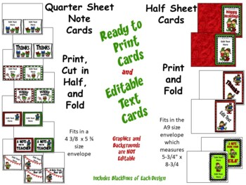 Christmas Writing Templates: Post Cards, Note Cards, Task Cards, Writing Sheets