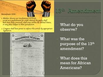 Post Civil War Reconstruction Powerpoint