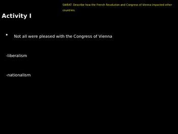 Post Congress of Vienna Revolutions of 1830/1848