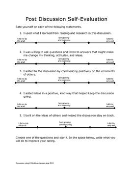 Post Discussion Self-Evaulation