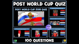 Post Football World Cup Quiz - 100 Question PowerPoint Quiz