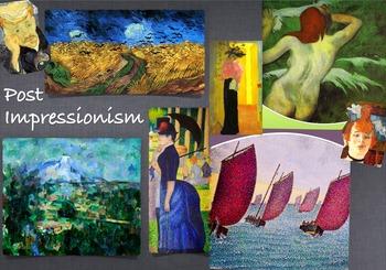 Post Impressionism Art History  ~ FREE POSTER