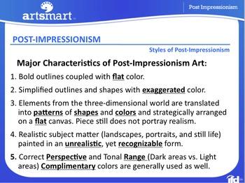 Post Impressionism ~ Characteristics and Techniques Presentation