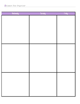 Post It Lesson Plan Book 2015-2016 Purple