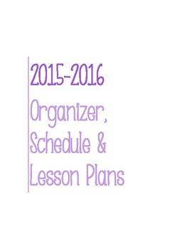 Post It Lesson Plan Book 2015-2016 Purple