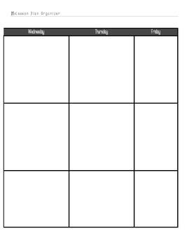 Post It Lesson Plan Book 2015-2016 Black/Grey