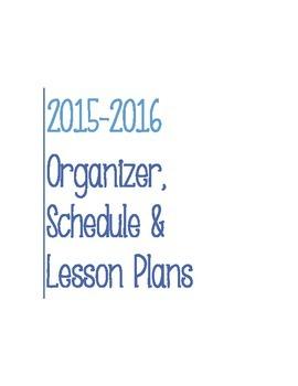 Post It Lesson Plan Book 2015-2016 Blue