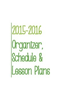 Post It Lesson Plan Book 2015-2016 Green