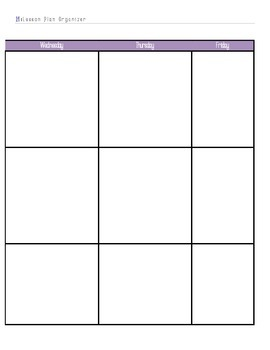 Post It Lesson Plan Book 2015-2016 Lavender