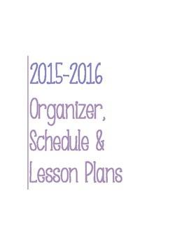 Post It Lesson Plan Book 2015-2016 Lavender