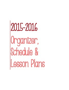 Post It Lesson Plan Book 2015-2016 Red