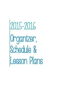 Post It Lesson Plan Book 2015-2016 Teal