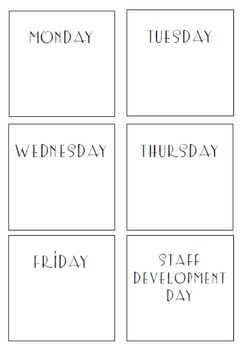 Post It Note Calendar Weekdays and Holidays to print