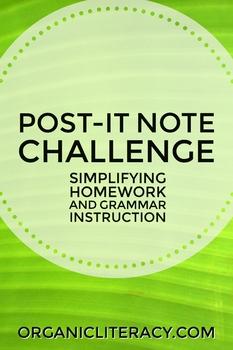 Post-It Note Challenge: A Fun Way to Encourage Grammar Fluency