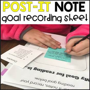Post It Note Goal Recording Sheet for Readers Notebook