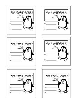 Post It Note Homework Pass