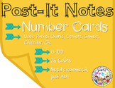 Post-It Note Number Cards 0-100 for Pocket Charts, Centers