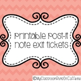 Post It Note Printable Exit Ticket