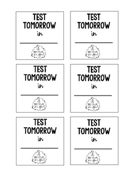 Printable Post-It Note Reminders -great for students and parents!