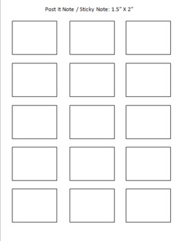 post it note sticky note printing template freebie by angela