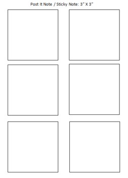 Post It Note / Sticky Note Printing Template - FREEBIE