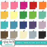 Post-It Note-Sticky Note with Push Pin Clipart Pack