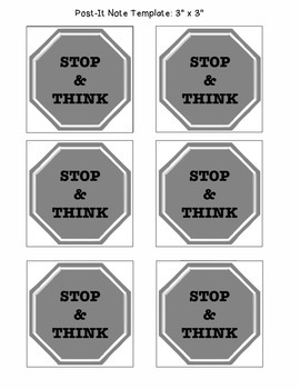 Post-It Note: Stop Sign Prompt
