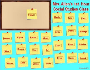 Post-It Note Student Selector System - Promethean Flipchart