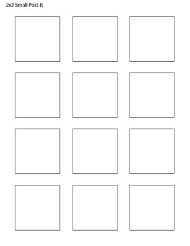 Post-It Note Template-Small, Regular, Large