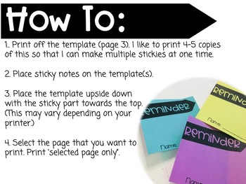 Post It Note Templates