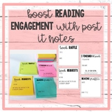 Post It Note Templates for Reading Engagement