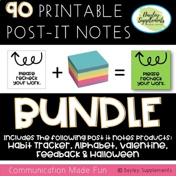 Post-It Notes BUNDLE for planners, calendars, and journals