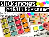 Post - It Notes Template {EDITABLE} To Organize Teacher Planner